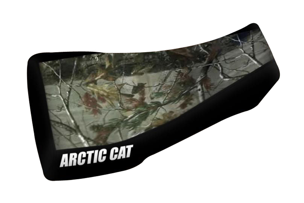 Arctic Cat 400 450 500 650 Camo Top Black Sides Logo Seat Cover Models Up To 2004 Year
