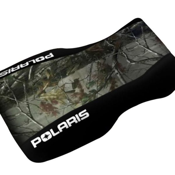 Polaris Sportsman 500 700 800 Camo Top Black Sides Logo Seat Cover 2005 & Up Models