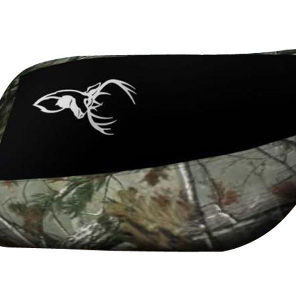 Suzuki Eiger Black Top Camo Sides Elk Logo Seat Cover