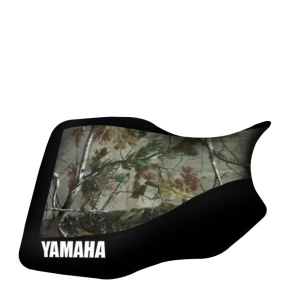 Yamaha Grizzly 350 400 450 600 Camo Top Black Sides Logo Seat Cover