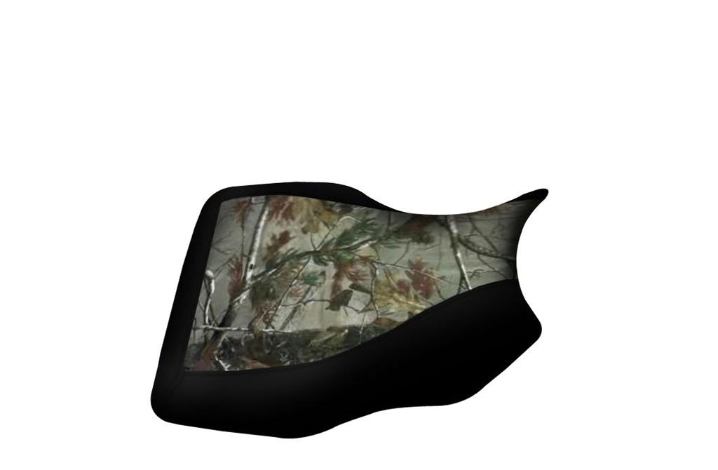 Yamaha Grizzly 350 400 450 600 Camo Top Black Sides Seat Cover