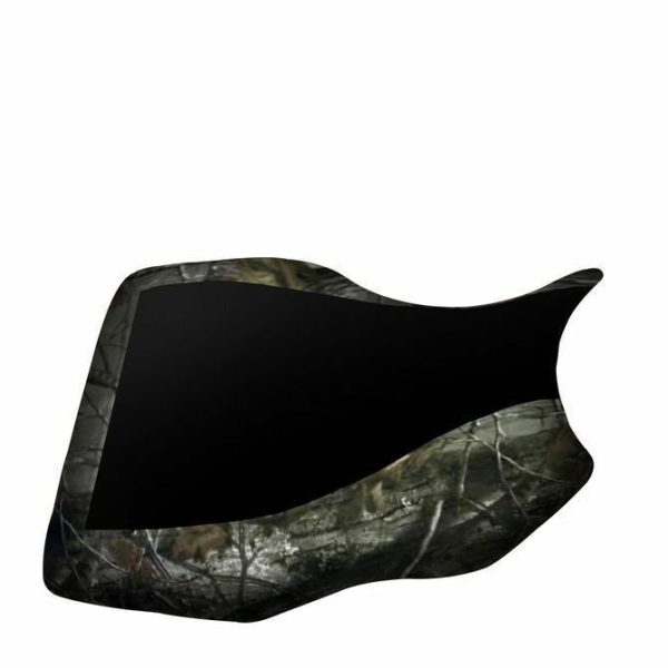 Yamaha Grizzly 350 400 450 660 Black Top Camo Sides Elk Seat Cover