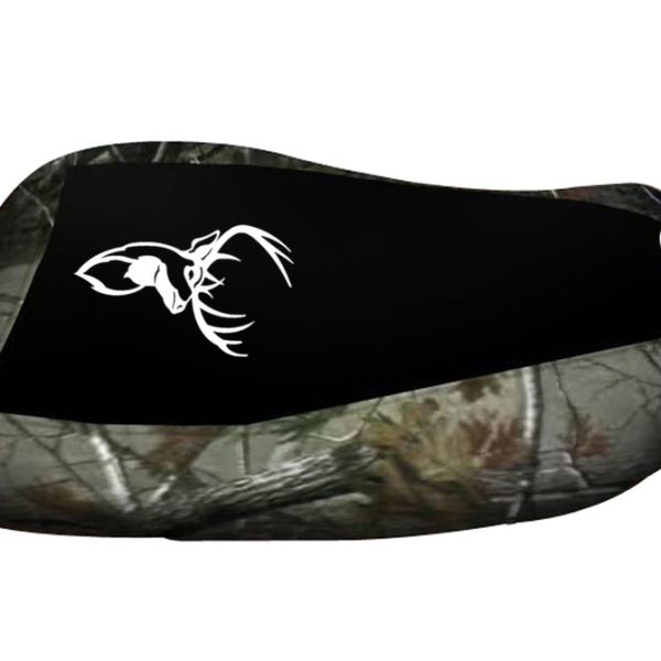 Yamaha Grizzly 700 Black Top Camo Sides Elk Logo Seat Cover