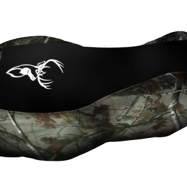 Yamaha Kodiak 400 450 Black Top Camo Sides Elk Logo Seat Cover 2000 & Up Models