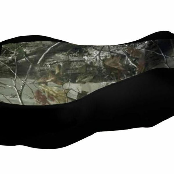 Yamaha Kodiak 400 450 Camo Top Black Sides Seat Cover 2000 & Up Models