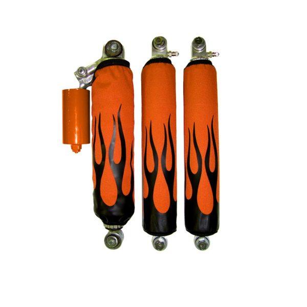 Black Flame Orange BG Shock Cover