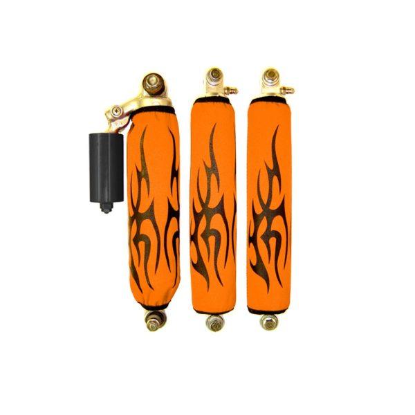Black Tribal Orange Shock Cover