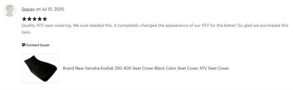 Custom ATV Seat Covers 4