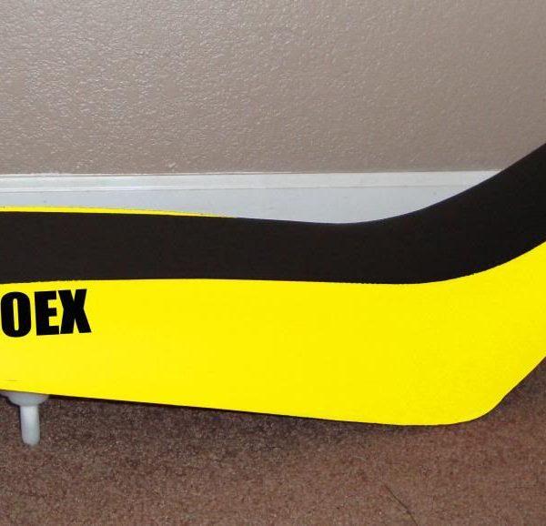 Honda 400 EX Stencil Yellow And Black Seat Cover