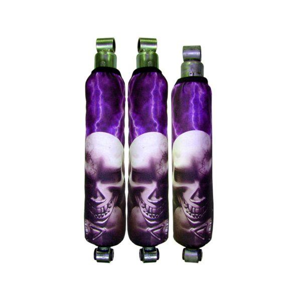 Purple Lightning Skull Pile Shock Cover